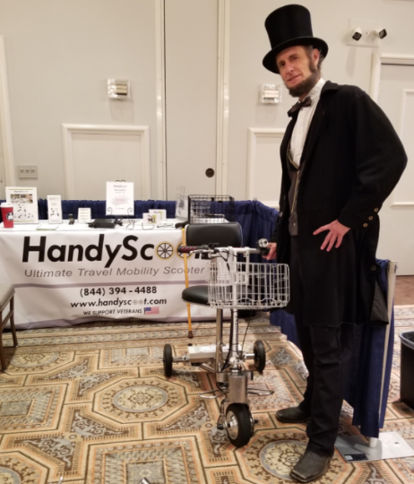 Abe Lincoln with the HandyScoot